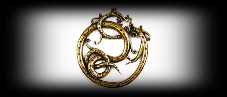 Стилизованное изображение змея Ермунганд