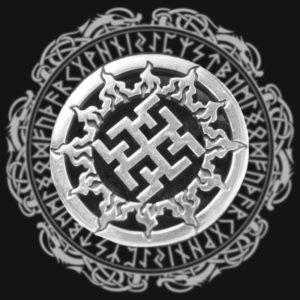Фотография кулона с изображением символа Духобор