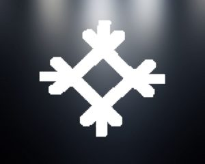 Символ Целебник на черном фоне