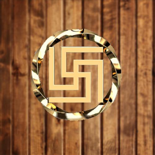 Фотография славянского символа рубежник