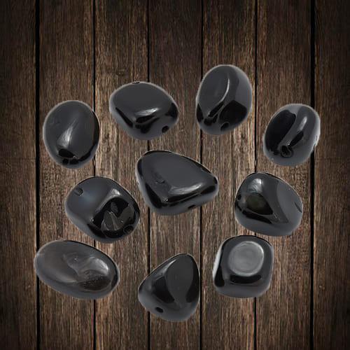 Фотография черного агата