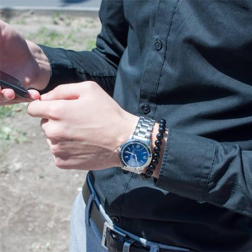 фото браслета из черного агата