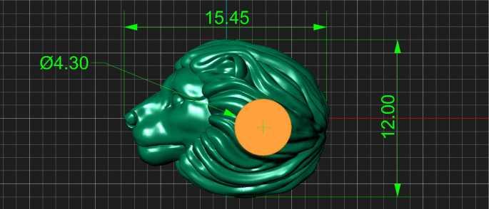 Шарм Лев на этапе создания 3D модели украшения.