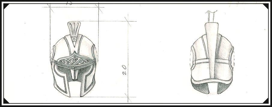 Рисунок карандашом, будущий шарм на бумаге