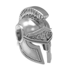 Серебряный шарм спартанский шлем.